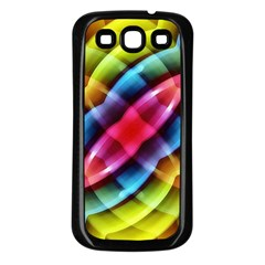 Multicolored Abstract Pattern Print Samsung Galaxy S3 Back Case (black) by dflcprints