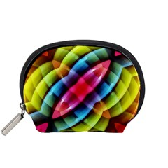 Multicolored Abstract Pattern Print Accessory Pouch (small)