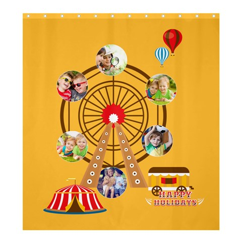 Kids By Kids   Shower Curtain 66  X 72  (large)   Kh29migdhw7u   Www Artscow Com 58.75 x64.8 Curtain