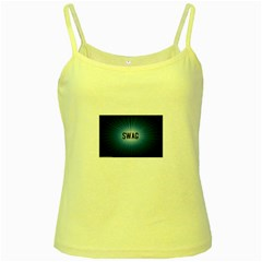 Swag Yellow Spaghetti Tank by centralcharms1