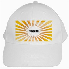 Sun White Baseball Cap by centralcharms1