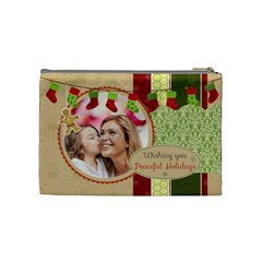 Xmas By Xmas   Cosmetic Bag (medium)   4v1x7pxhcoxy   Www Artscow Com Back