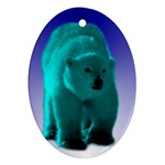 Polar Bear Ornament (Oval)