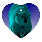 Polar Bear Ornament (Heart)