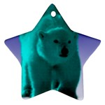 Polar Bear Ornament (Star)