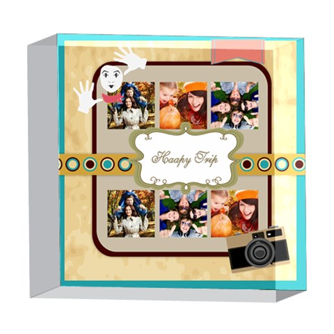 Xmas By Travel   5  X 5  Acrylic Photo Block   Sg7bjb11xtih   Www Artscow Com Front