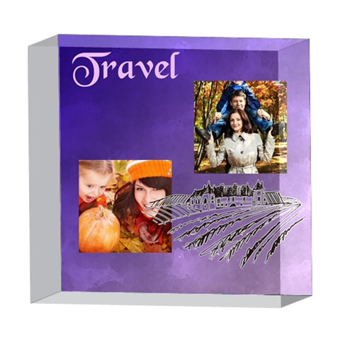 Travel By Travel   5  X 5  Acrylic Photo Block   Zov2ra6ky7t9   Www Artscow Com Front