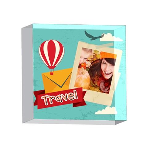 Xmas By Travel   4 x 4  Acrylic Photo Block   Jrhm1z50cfmu   Www Artscow Com Front