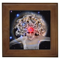 Medusa Framed Ceramic Tile by icarusismartdesigns