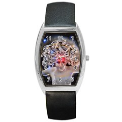 Medusa Tonneau Leather Watch by icarusismartdesigns