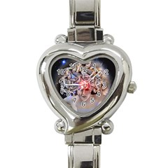 Medusa Heart Italian Charm Watch  by icarusismartdesigns