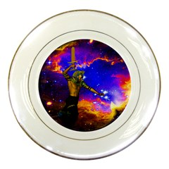 Star Fighter Porcelain Display Plate by icarusismartdesigns