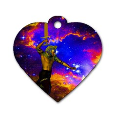 Star Fighter Dog Tag Heart (two Sided) by icarusismartdesigns