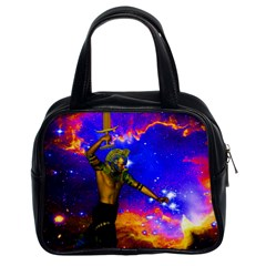 Star Fighter Classic Handbag (two Sides) by icarusismartdesigns