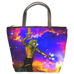 Star Fighter Bucket Handbag by icarusismartdesigns