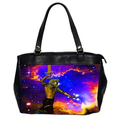 Star Fighter Oversize Office Handbag (two Sides) by icarusismartdesigns