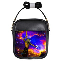 Star Fighter Girl s Sling Bag by icarusismartdesigns