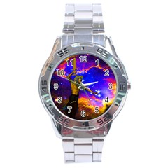 Star Fighter Stainless Steel Watch by icarusismartdesigns
