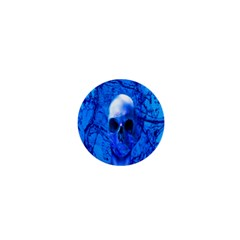 Alien Blue 1  Mini Button by icarusismartdesigns