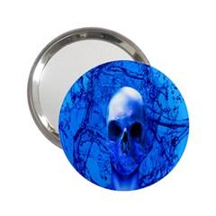 Alien Blue Handbag Mirror (2 25 ) by icarusismartdesigns