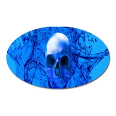 Alien Blue Magnet (oval) by icarusismartdesigns