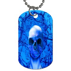 Alien Blue Dog Tag (two Sided)  by icarusismartdesigns
