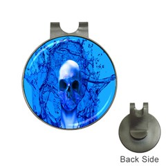 Alien Blue Hat Clip With Golf Ball Marker by icarusismartdesigns