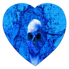Alien Blue Jigsaw Puzzle (heart) by icarusismartdesigns