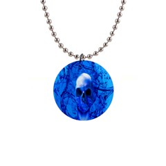 Alien Blue Button Necklace by icarusismartdesigns