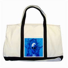Alien Blue Two Toned Tote Bag by icarusismartdesigns