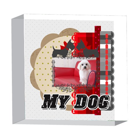Pet By Pet    5  X 5  Acrylic Photo Block   S0w8ln9290bu   Www Artscow Com Front