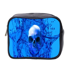 Alien Blue Mini Travel Toiletry Bag (two Sides) by icarusismartdesigns