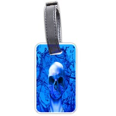 Alien Blue Luggage Tag (two Sides) by icarusismartdesigns