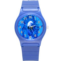 Alien Blue Plastic Sport Watch (small) by icarusismartdesigns