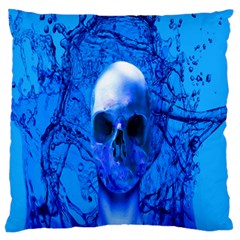 Alien Blue Large Cushion Case (Two Sided)  by icarusismartdesigns