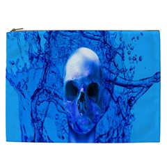 Alien Blue Cosmetic Bag (xxl) by icarusismartdesigns