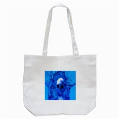 Alien Blue Tote Bag (white) by icarusismartdesigns