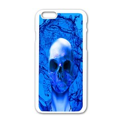 Alien Blue Apple Iphone 6 White Enamel Case by icarusismartdesigns