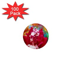 Star Flower 1  Mini Button Magnet (100 Pack) by icarusismartdesigns