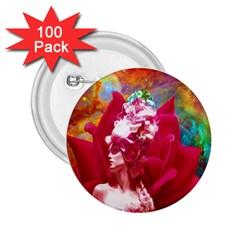 Star Flower 2 25  Button (100 Pack) by icarusismartdesigns