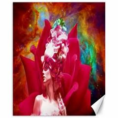 Star Flower Canvas 11  X 14  (unframed) by icarusismartdesigns