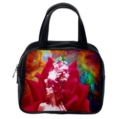 Star Flower Classic Handbag (one Side) by icarusismartdesigns