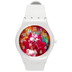 Star Flower Plastic Sport Watch (medium) by icarusismartdesigns