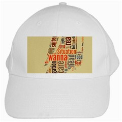 Michael Jackson Typography They Dont Care About Us White Baseball Cap by FlorianRodarte