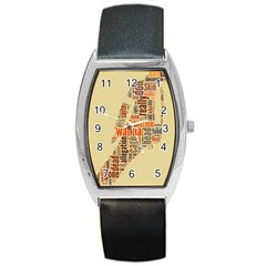 Michael Jackson Typography They Dont Care About Us Tonneau Leather Watch by FlorianRodarte