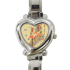 Michael Jackson Typography They Dont Care About Us Heart Italian Charm Watch  by FlorianRodarte