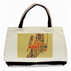 Michael Jackson Typography They Dont Care About Us Classic Tote Bag by FlorianRodarte