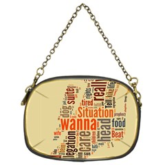 Michael Jackson Typography They Dont Care About Us Chain Purse (one Side) by FlorianRodarte