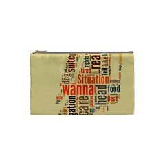 Michael Jackson Typography They Dont Care About Us Cosmetic Bag (small) by FlorianRodarte