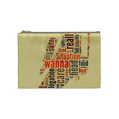Michael Jackson Typography They Dont Care About Us Cosmetic Bag (medium) by FlorianRodarte